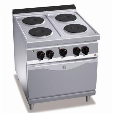 Плита электрическая 4-х конфорочная с духовкой (3,5 кВт) Bertos E9P4 + FE1