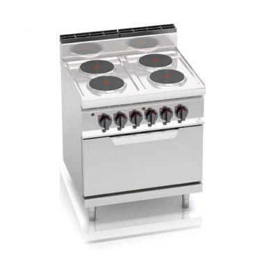 Плита электрическая 4-х конфорочная с духовкой 7,5 кВт Bertos E7P4+FE