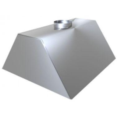Зонт вытяжной с жироулавливателем 700*700