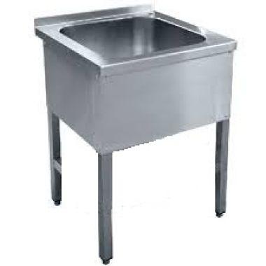 Ванна моечная односекционная 700*700 глубина 300