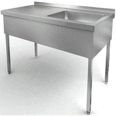 Ванна моечная двух секционная 1000*600 глубина 400