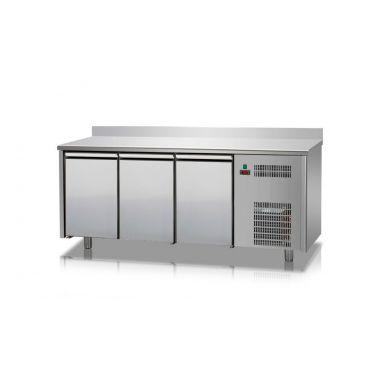 Стол холодильный с бортом Tecnodom TF 03 MID 60 AL 3 двери